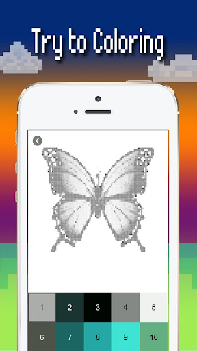 Butterfly color by number : Bugs coloring book 1.4 screenshots 3