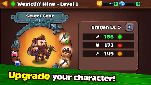 Mine Quest 2: RPG Roguelike u26cf Crash the Boss android2mod screenshots 3