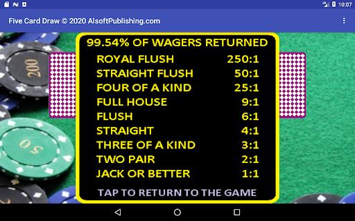 Five Card Draw Poker  screenshots 23