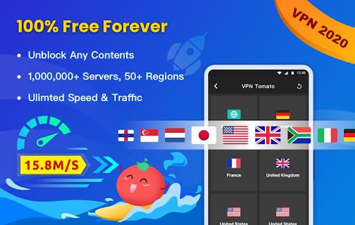 Free VPN Tomato | Fastest Free Hotspot VPN Proxy 2.6.500 screenshots 1