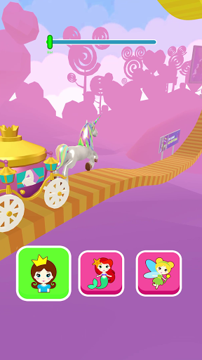 Shift Princess: fairy car games. Drive ahead race!  screenshots 1