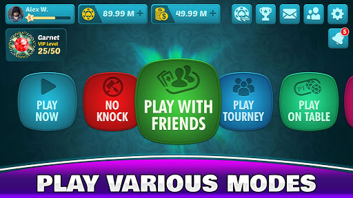 Tonk Multiplayer - Online Gin Rummy Free Variation modavailable screenshots 8