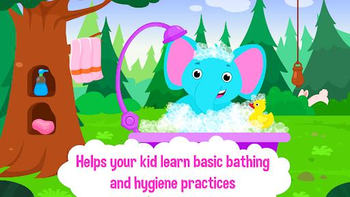 Baby Animal Bathing Game for Kids & Preschoolers apkdebit screenshots 2