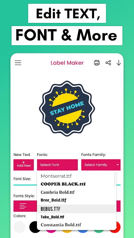 Label Maker: Custom Label Creator & Template Maker poster 4
