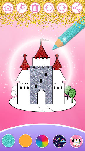 Glitter Dress Coloring Pages for Girls  Screenshots 2