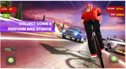 bicycle highway rider screenshot 1