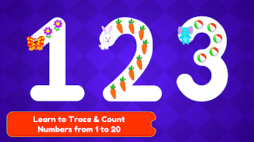 Tracing Numbers 123 & Counting Game for Kids