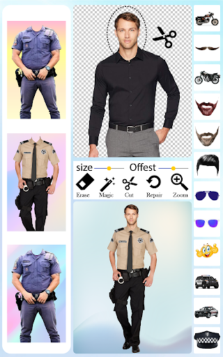 Men Police Suit Photo Editor android2mod screenshots 5