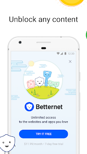 VPN Free – Betternet Hotspot VPN & Private Browser 5.7.0 Android APK Mod 1