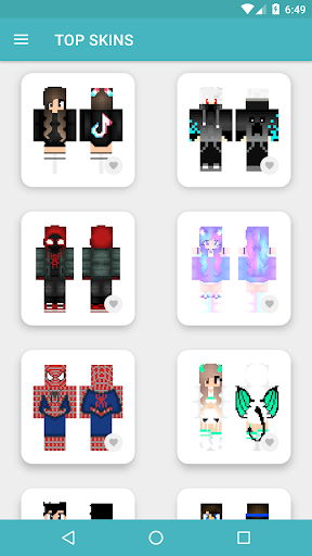 HD Skins for Minecraft PE (128x128) android2mod screenshots 11