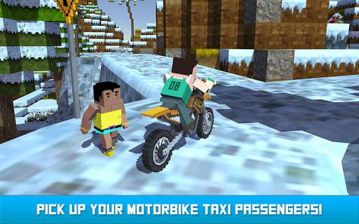 Blocky Moto Bike SIM: Winter Breeze android2mod screenshots 5
