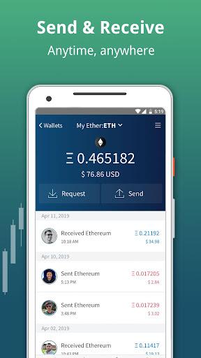 Edge - Bitcoin, Ethereum, Monero, Ripple Wallet  Screenshots 13