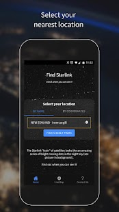 Find Starlink Satellites Screenshot