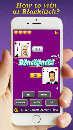 blackjack basic strategy training screenshot 2