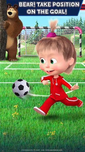 Masha and the Bear: Football Games for kids Apkfinish screenshots 8