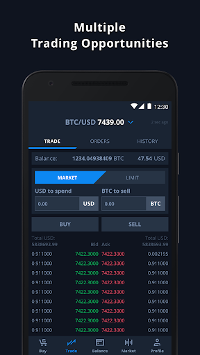 CEX.IO Cryptocurrency Exchange - Buy Bitcoin (BTC)  Screenshots 5