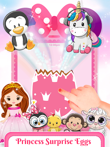 Pink Little Talking Princess Baby Phone Kids Game 9.0.1 screenshots 3