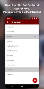 Resume Star - PDF Resume Builder App Free CV Maker