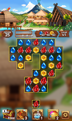 Sea of Jewels : Aloha ! Match3 puzzle modavailable screenshots 7
