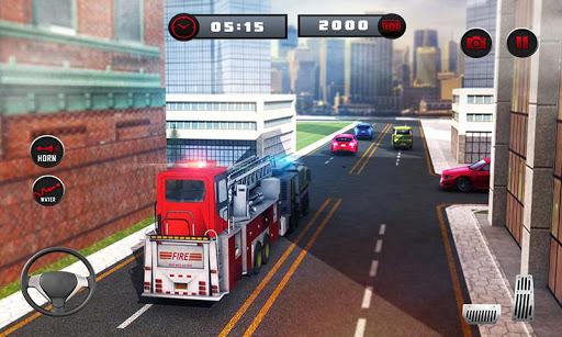 ud83dude92 Rescue Fire Truck Simulator: 911 City Rescue  screenshots 5