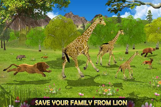 Giraffe Family Life Jungle Simulator apktram screenshots 3