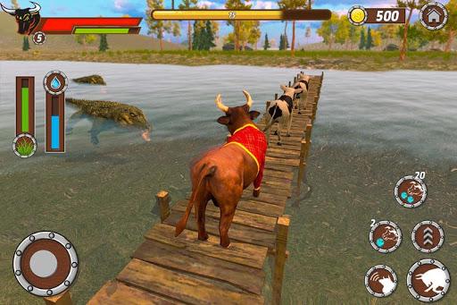 bull family simulator: wildlife family game screenshot 2
