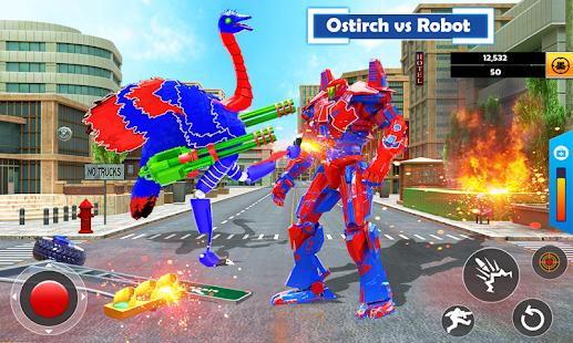 Flying Ostrich Air Jet Robot Car Game  Screenshots 4