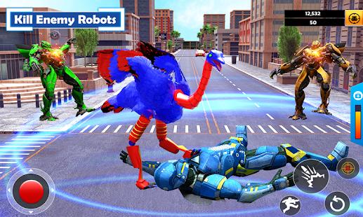 Flying Ostrich Air Jet Robot Car Game  Screenshots 3
