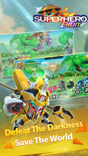 Superhero Fruit: Robot Wars - Future Battles android2mod screenshots 4