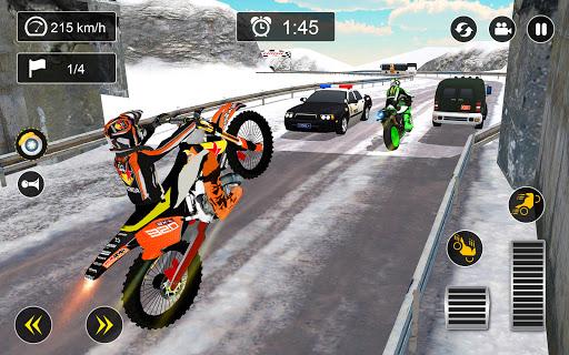 Snow Mountain Bike Racing 2021 - Motocross Race android2mod screenshots 7