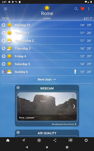 The Weather: weather forecast by iLMeteo  screenshots 9