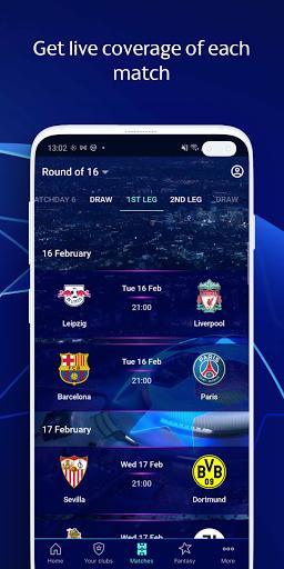 Champions League Official: news & Fantasy Football android2mod screenshots 3