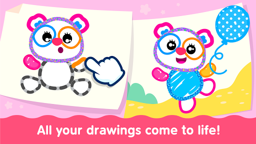 Bini Toddler Drawing Apps! Coloring Games for Kids  screenshots 3