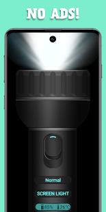 Flashlight -No Ads, Home Screen Icon, White Screen