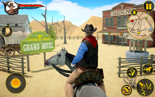 Cowboy Horse Riding Simulation apktram screenshots 9