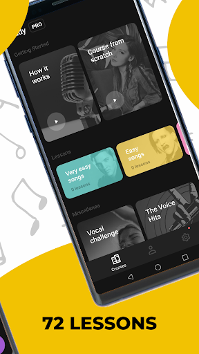 Singing app Vocaberry. Vocal training. Karaoke 2.11.2GMS Screenshots 2