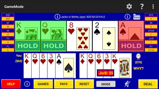 play perfect video poker lite screenshot 2