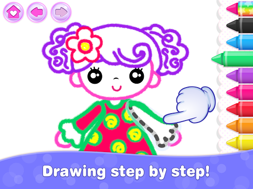 Kids Drawing Games for Girls! Apps for Toddlers!  screenshots 19