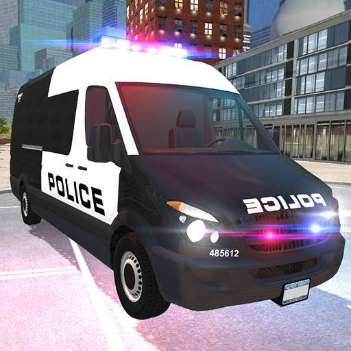 American Police Van Driving: Offline Games No Wifi