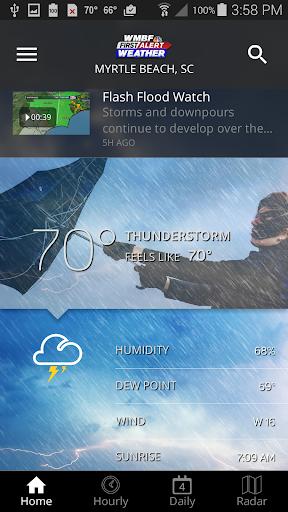 wmbf first alert weather screenshot 1
