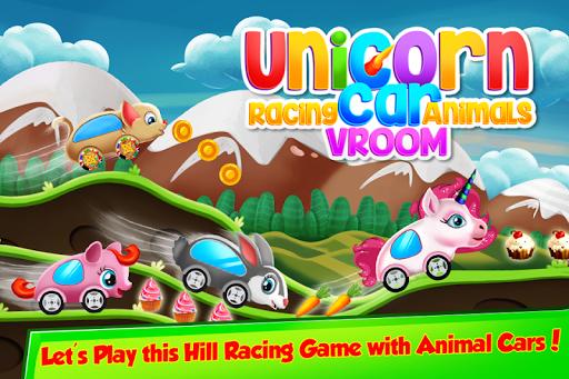 unicorn racing cars animals vroom screenshot 1