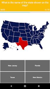 US Map Quiz – 50 States Quiz – US States Quiz 1.0.20 Mod APK (Unlock All) 3