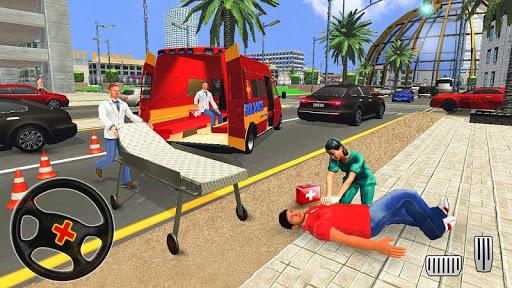 City Ambulance Rescue Simulator Games 🚑 🚁 1.0 screenshots 2