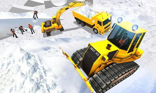 Snow Park Downhill Bulldozer Construction games 1.1 screenshots 1