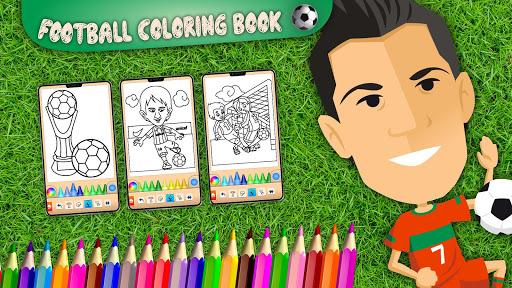 Football coloring book game screenshots 14