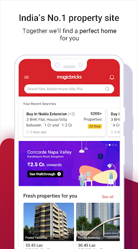 Magicbricks Property Search & Real Estate App android2mod screenshots 1