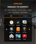 screenshot of FD VR Theater: 360 Cinematic Video Player in VR