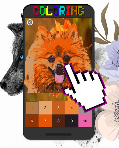 Dog Animal Coloring By Number-Pixel Art 7.0 screenshots 1