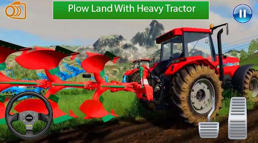 Real Tractor Farming Game:Village life 2021 apklade screenshots 2