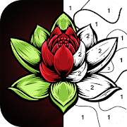 Color By Number -  Relaxing Free Coloring Book